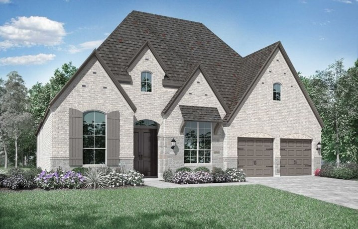 Highland Homes Plan 216 Elevation D in Canyon Falls