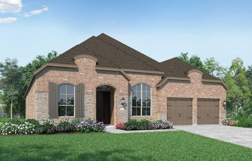 Highland Homes Plan 216 Elevation E  in Canyon Falls