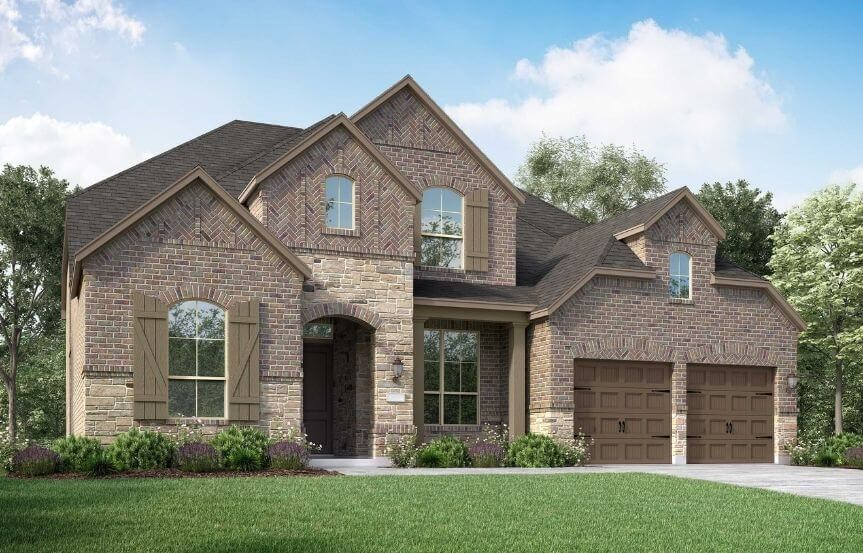 Highland Homes Plan 221 Elevation A in Canyon Falls
