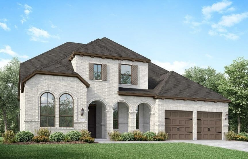 Highland Homes Plan 221 Elevation B in Canyon Falls