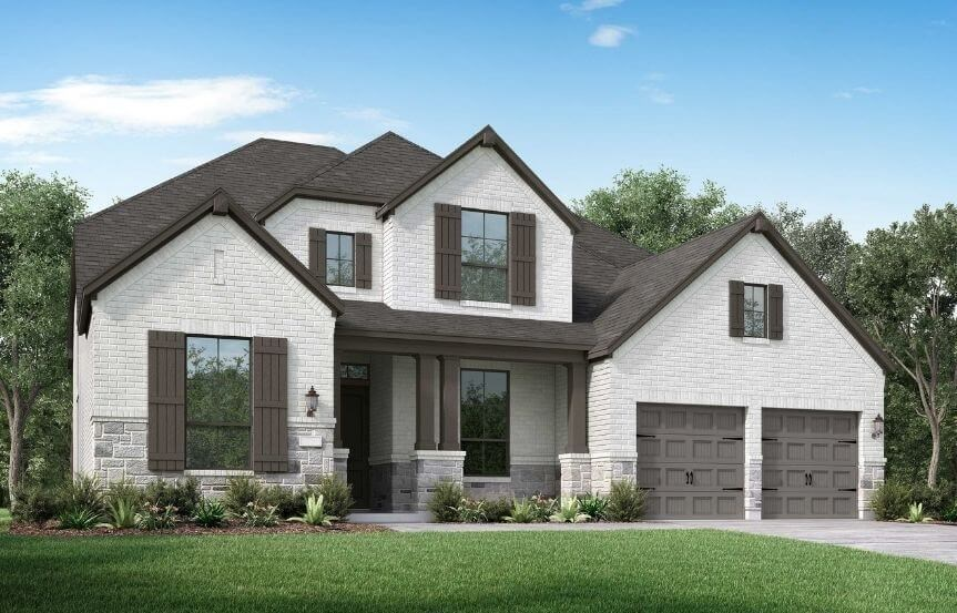 Highland Homes Plan 221 Elevation C in Canyon Falls
