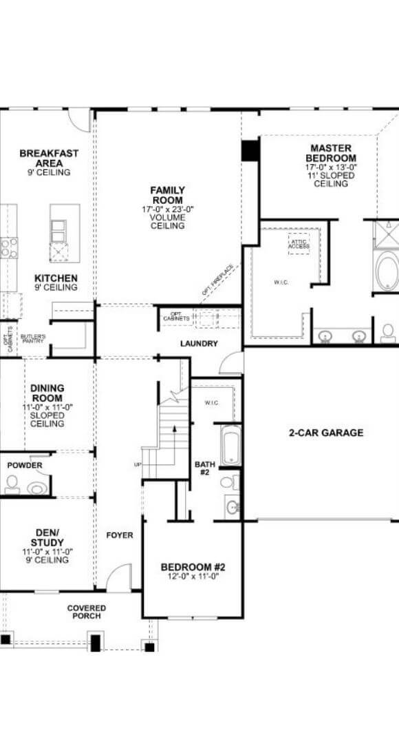 MI Homes Plan Salado First Floor in Canyon Falls