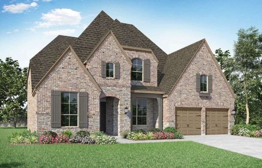 Highland Homes Plan 221 Elevation E in Canyon Falls
