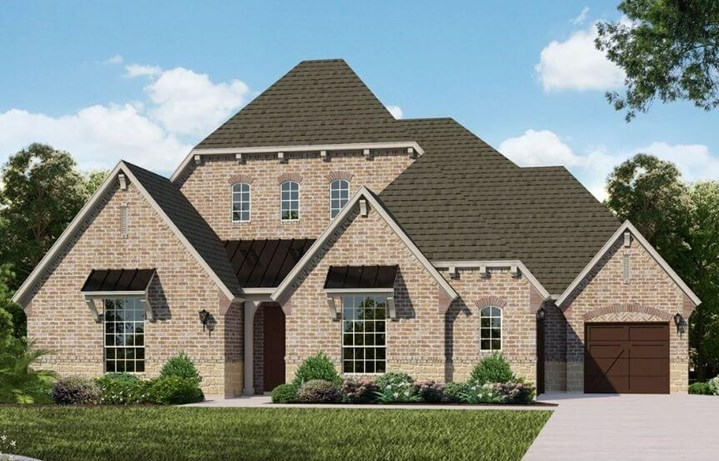 Belclaire Homes Plan B826 Elevation C in Canyon Falls