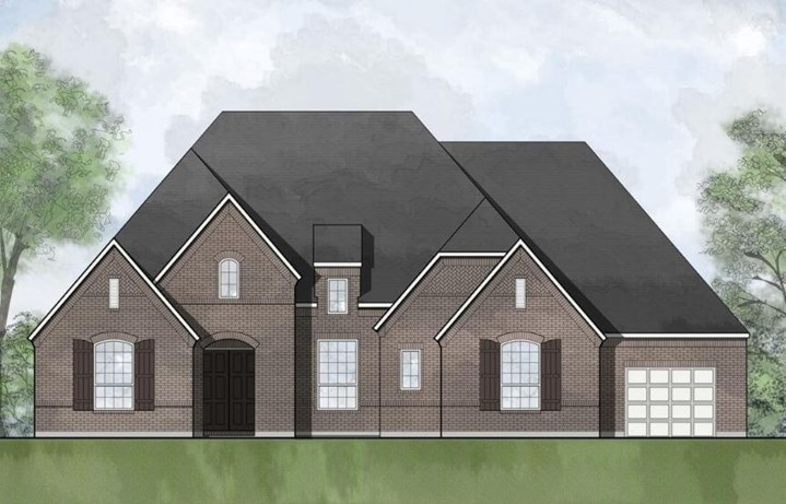 Drees Custom Homes Plan Elmsley Elevation A in Canyon Falls