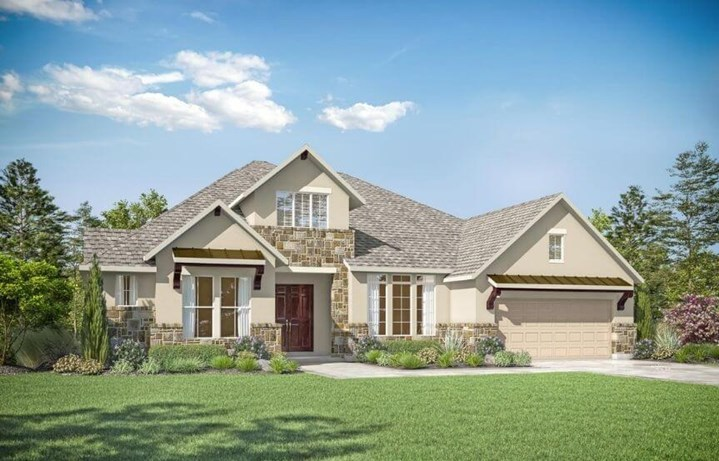 Drees Custom Homes Plan Eastland Elevation A in Canyon Falls