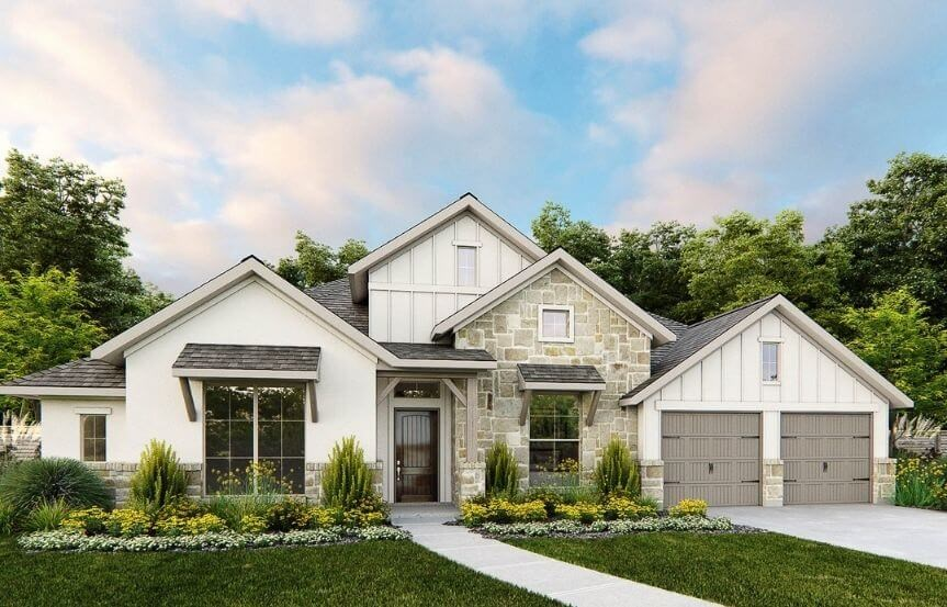 Perry Luxury Homes Plan 3525W Elevation 30 in Canyon Falls