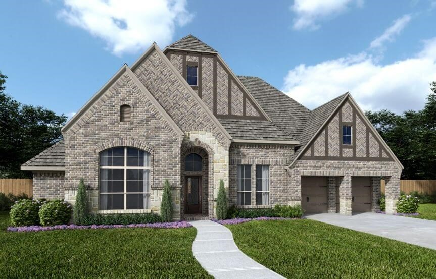 Perry Luxury Homes Plan 3525W Elevation 100 in Canyon Falls