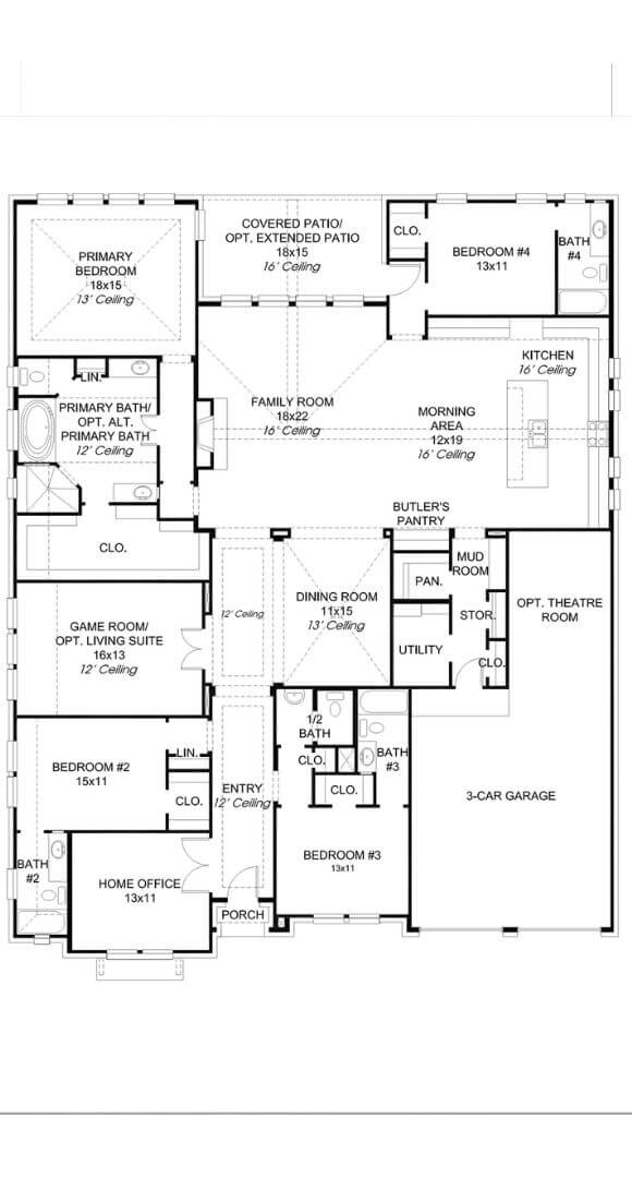 Perry Luxury Homes Plan 3525W Floorplans in Canyon Falls