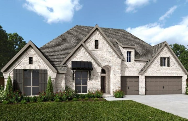 Perry Luxury Homes Plan 3410w Elevation 1 in Canyon Falls