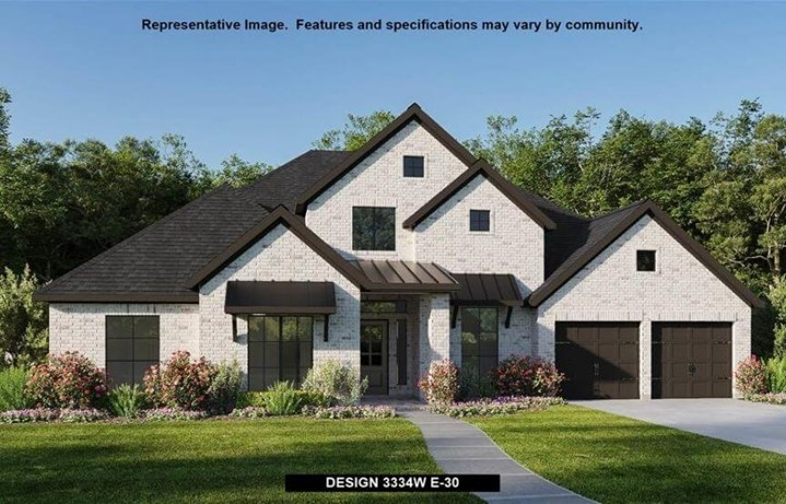 Perry Luxury Homes Plan 3334W Elevation 30 in Canyon Falls