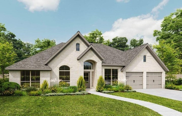 Perry Luxury Plan 3002W Elevation E1 in Canyon Falls